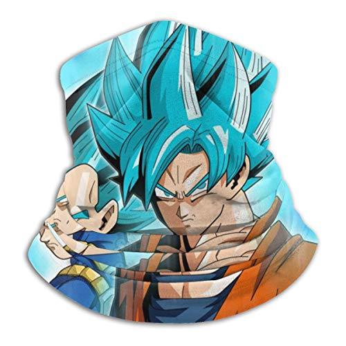 Jiadourun Dragon Ball Super Vegeta Goku - Bufanda de microfibra para el cuello, suave,...