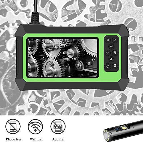 HUKOER Cámara De Inspección Endoscópica Industrial, Endoscopio De Alta Definición De 1080p,...