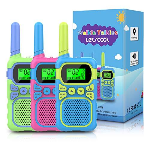 Toys for 4-12 Year Old Boys Girls,3 Pack Walkie Talkies 3 Miles Range & 22 Channels 2 Way Radio, Outdoor Indoor Stem Toys Gift for 3-10 Year Old Boys or Girls