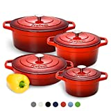 ProCook Cast Iron Induction Enamel Casserole Set
