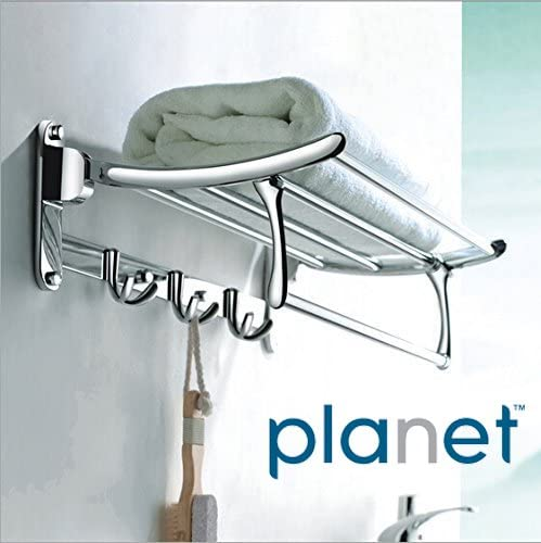 Planet Platinum High Grade Stainless Steel Folding Towel Rack (2 feet long) - Pack of (1) product image