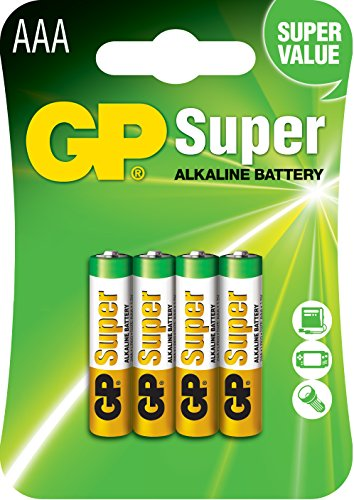 GP Batterie Alkaline (AAA, Micro, LR 03, 1,5V)
