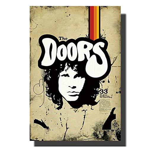 NRRTBWDHL Die Türen Jim Morrison heiße Musik Poster Wandkunst Leinwand Malerei Druck Dekoration Raum Bild Geschenk Wanddekoration Druck auf Leinwand-40x60cm No Frame