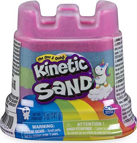 Kinetic Sand Regenbogen-Einhorn Behälter, 141 g magischer Spielsand in vier Farben