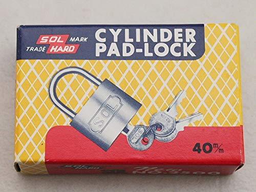 鍵 F0120-28 送料無料 錠前 南京錠 かぎ 40mmと45mmの2個セット シリンダー南京錠のトップメーカー 「SOL HARD(ソール・ハード)」 整理品 大特価