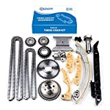 ECCPP 94201S Timing Chain Kit Tensioner Guide Rail Crank Sprocket Shaft Sprocket Replaceme...
