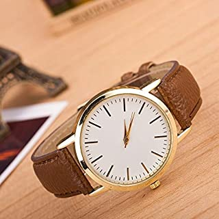 Fashion Leather Strap Watches 3 Pack Marble and Gold Belt Watches (Color : Red)