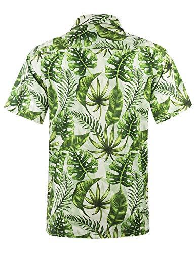 APTRO Men's Hawaiian Shirt Relax Fit Casual Short Sleeve Shirts HWS032 M