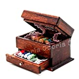 ARUNDEL SERVICES EU 1:12 Caja de Costura Vintage en Miniatura con Kit de Agujas Casa de muñecas Decoración Accesorios Casa de muñecas