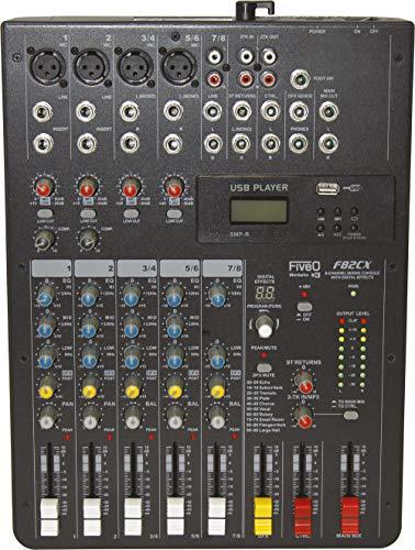 Montarbo FiveO F82CX Profi-Mixer mit 8 Kanälen