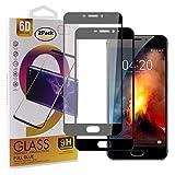 Guran [2 Paquete Protector de Pantalla para Meizu M5 Note/Meizu Note5 Smartphone Cobertura Completa Protección 9H Dureza Alta Definicion Vidrio Templado Película - Negro