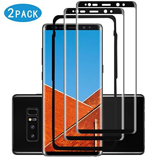 MOOYAO Note 8 Panzerglas(2 Pack)(Einfache Installationsablage) 3D Volle Bedeckung/9H Festigkeit/Ultra-klar/Hüllenfre&lich Panzerglas für Samsung Galaxy Note 8