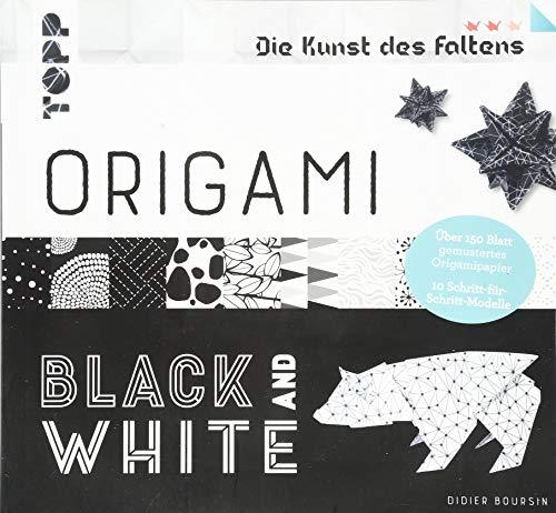 Origami Black & White (Die Kunst des Faltens): 152 Blatt gemustertes Origamipapier und 10 Schritt-für-Schritt-Modelle