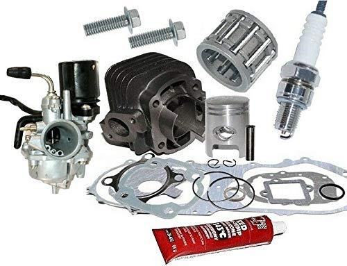 UNTIMERO 50ccm Zylinder KIT VERGASER Dichtung Set für Explorer Race GT 50 2T Zylinderkit