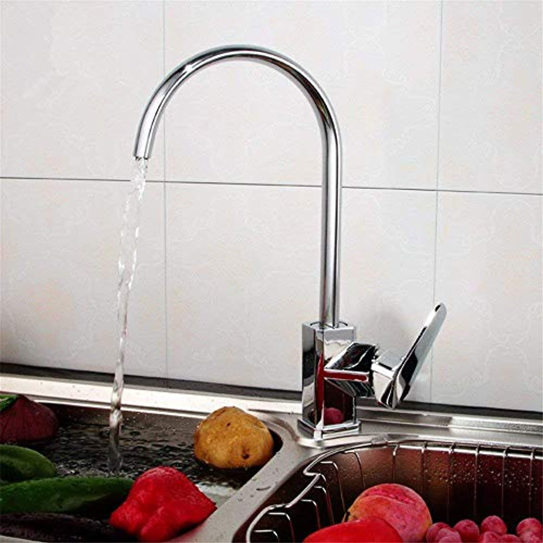 360 ° drehbaren Wasserhahn Retro Wasserhahn Moderne Kupfer Einlochmontage Casting Kitchen Sink Heie und kalte Wasserhahn Grünikale