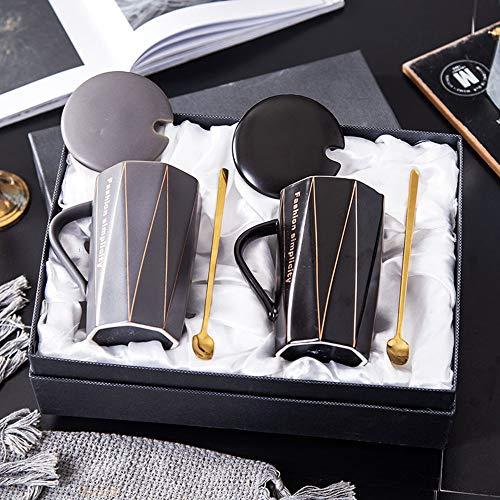 YONGM Becher,Tassen Set, Paar-Kaffeetassen als Hochzeitsgeschenke, Paare Geschenke für Hochzeit and Valentinstag Geschenkideen,AY