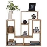 Stufenregal Tetris Eiche Natur Massivholz Aufbewahrung Schrank Regal Raumteiler