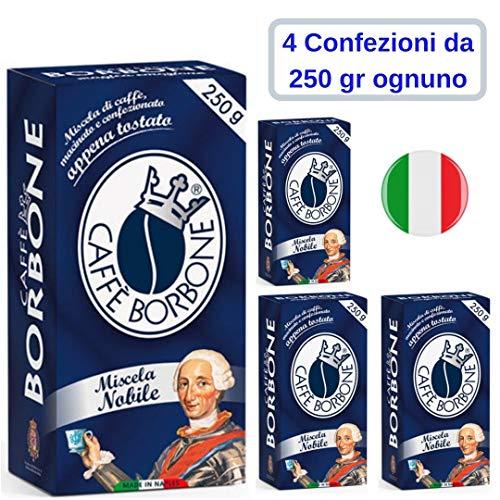 Caffe' Borbone Macinato Miscela Nobile 4 Confezioni da 250 Grammi