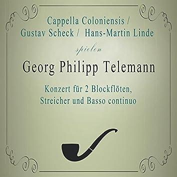 Cappella Coloniensis / Gustav Scheck / Hans-Martin Linde spielen: Georg Philipp Telemann: Konzert für 2 Blockflöten, Streicher und Basso continuo (Live)