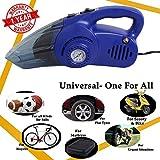 Oshotto 100W Heavy Duty Car Vacuum Cleaner Cum 120W Heavy Duty Air Compressor/Tyre