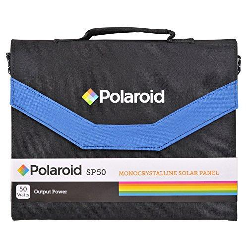 Polaroid SP50 Faltbares Solar Panel mit 50W Ladeleistung, Universal-Ausgang und Adaptern, 50 W