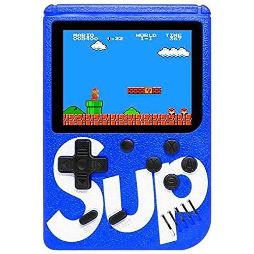 Mini Video Game Box SUP Super Nes Nintendo 400 Jogos Clássicos Portátil USB Azul