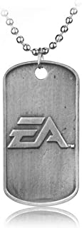 Men's necklace Shooting Game Bf4 Battlefield 4 Necklace Dog Tag Military Card Pendant Necklaces For Men Collar Fashion Cool Jewelry Accessories