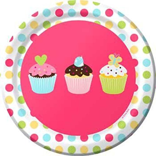 Assiettes 'Cup Cake' (lot de 8)