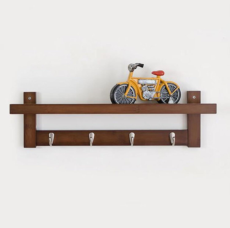 Creative Coat Racks Wall Hanging European Style Hangers Wall Clothes Hooks Living Room Shelf Hook up (Size   L61H18W12CM)