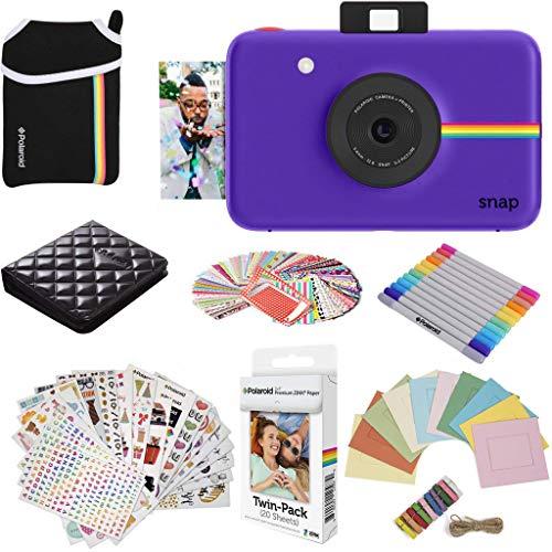 Polaroid AMZASK11SP01PR Snap Instant Digital Camera (Purple) Protective Bundle with 20 Sheets Zink Paper