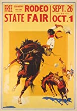 ORIGINAL CRATE LABEL VINTAGE FLORIDA COWBOY BUCKING BRONCO 1930 KISSIMMEE RODEO