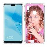 SHUMEI Coque personnalisée pour Huawei P20 Lite, photo personnalisée, absorption des chocs, coque...