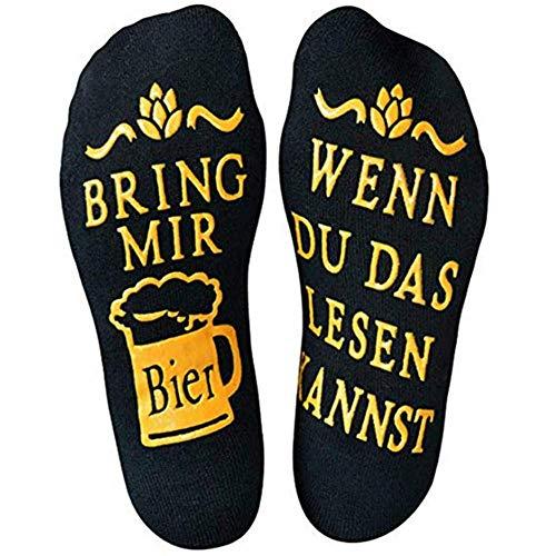 Lustige Bier Socken WENN DU DAS LESEN KANNST BRING MIR BIER, originielles Geschenk für Männer