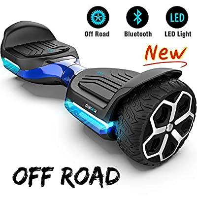 "Gyroor T581 Hoverboard 6.5"" Off Road All Terrain Hoverboard with Bluetooth Speaker and LED Lights Two-Wheel Self Balancing Hoverboard with UL2272 Certified (Blue)"