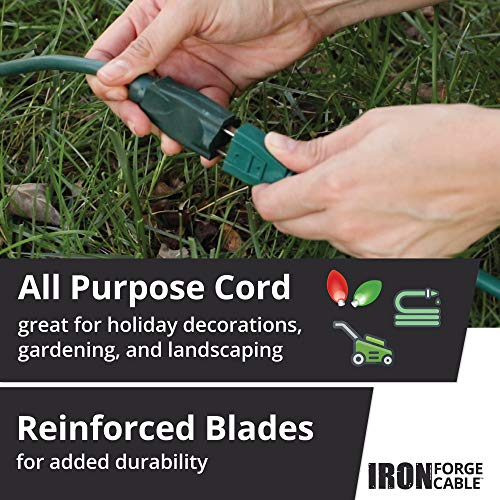 10 Ft Outdoor Extension Cord - 16/3 Durable Green Cable
