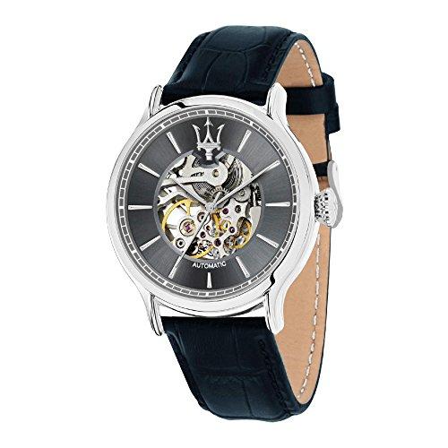 MASERATI Herren Analog Automatik Uhr mit Leder Armband R8821118002