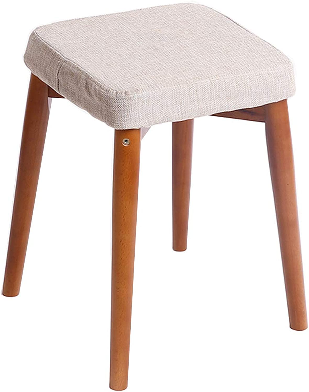 Household Dinning Stool,Vanity Stool,Anti-Slip Footstool,Suitable for All Kinds of Activities of Daily Living(32x32x46cm),B