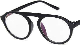 Unisex Glasses Frame Retro Black White Oval Full Frame Decoration Prescription Glasses