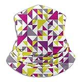 Wfispiy Halstuch nahtlos Dreieck Hintergrund rosa 26 cm x 30 cm Winter Sturmhaube Stirnband für Damen und Herren