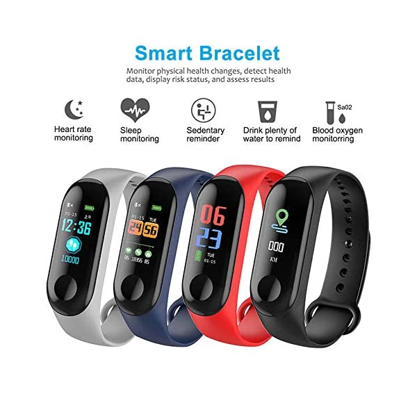 TaiRi Pulsera Inteligente Pantalla en Color HD IP68 Impermeable M3 Rastreador