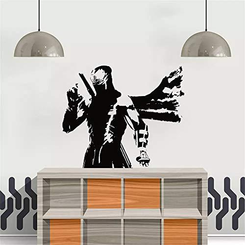 WERWN Kendo Wall Sticker Japanese Ninja Vinyl Art Wall Kendo Samurai Wall Sticker Decoration