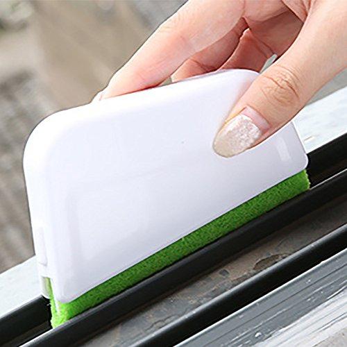 wanshop ® 3 PC Spazzola per Fessure Divario Vicolo Cieco Panno per la Pulizia Strumento di Pulizia per Porta e Finestra Auto, Universale per Bagno, Cucina e Casa (Bianco)
