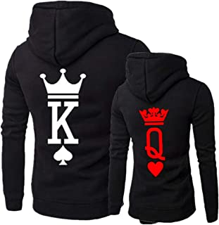 King & Queen Matching Couple Hoodie His & Hers Hoodies, 1 PC