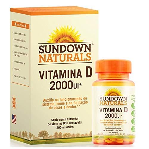Kit 2 Vitamina D 2000UI – Sundown Naturals 200 cápsulas