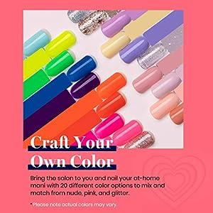 Beetles Gel Nail Polish Set-Dark Red Glitter Purple