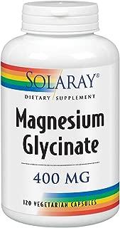 Solaray Magnesium Glycinate 400 Milligram   May Support Bone and Cardiovascular Health   Enhanced Absorption Vegetarian Capsules   Lab Verified   120 VegCaps