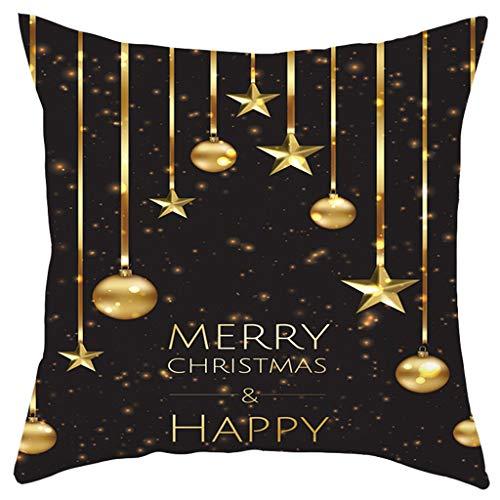 Merry Christmas Short Plush Pillowcase Sofa Pad Set Home Decoration 18X18 Inch, Merry Xmas Short Plush Pillowcase 45X45cm, N