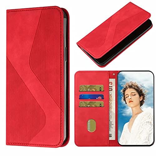 Funda para Samsung Galaxy S10 Plus, funda para teléfono Samsung Galaxy S10 Plus, con absorción de golpes, funda de piel sintética, funda protectora para teléfono Samsung Galaxy S10 Plus, color rojo