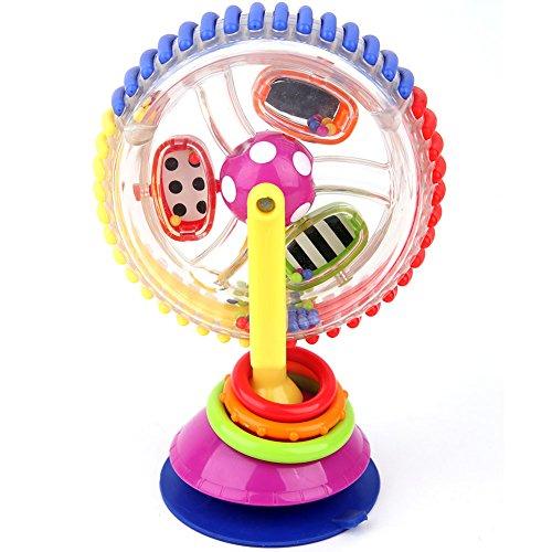 Coomir Baby-Modell Lernspielzeug für Kinderwagen, drehbar, Esszimmer, Saugnäpfe aus Kunststoff, Windmühle