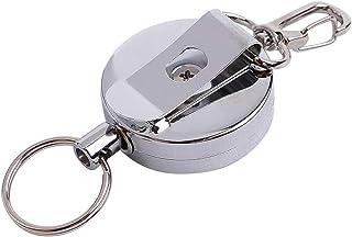 NoyoKere Resilience Stahldrahtseil elastischer Keychain Sportlicher einziehbarer Warnungs Schlüsselring Anti verlorenes Keychain Sicherheits Schnalle im Freien